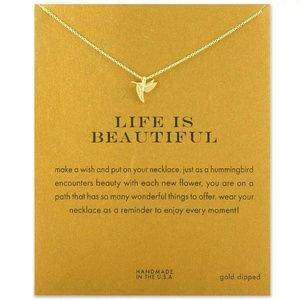 Jewelry - DIVA LUXURY DAINTY HUMMINGBIRD NECKLACE NEW